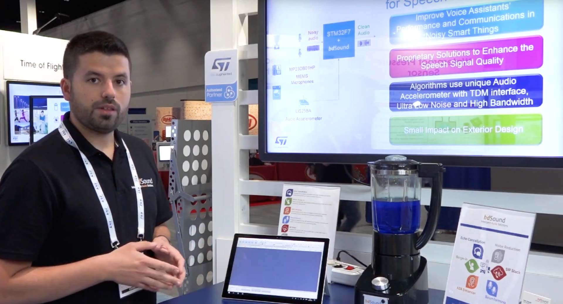 Sensors Expo 2019: BdSound noise reduction in action